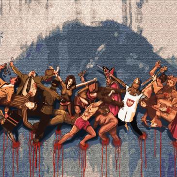 "Jacek Hajnos: Projekt muralu ""Korona cierniowa"""