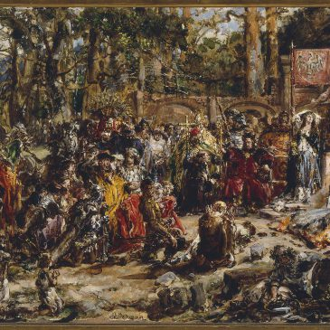 """Jan Matejko: """"Chrzest Litwy"""" – Obraz z kolekcji Muzeum Narodowego w Warszawie"""