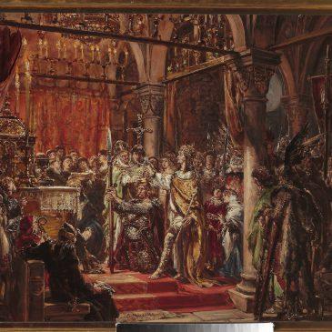 """Jan Matejko: """"Koronacja pierwszego króla R.P. 1001"""" – Obraz z kolekcji Muzeum Narodowego w Warszawie"""